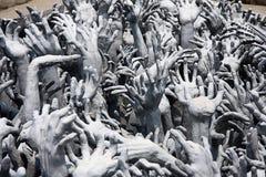 Inferno della forma della mano immagine stock