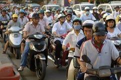 Inferno di traffico del Vietnam Saigon Fotografia Stock Libera da Diritti