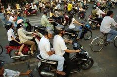 Inferno di traffico del Vietnam Saigon Immagini Stock Libere da Diritti