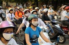 Inferno di traffico del Vietnam Saigon Immagine Stock
