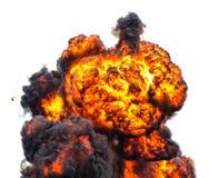 Inferno do cogumelo atômico da bola de fogo foto de stock