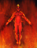 Inferno do diabo ilustração royalty free