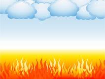 Inferno e céu Imagem de Stock