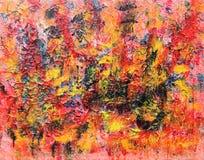 Inferno, fogo, a pintura do submundo imagem de stock