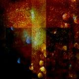 Inferno grungemörkerbakgrund Arkivbild
