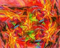 Inferno infernal rendido ilustração stock