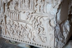 Inferno no túmulo da rainha Ines foto de stock royalty free