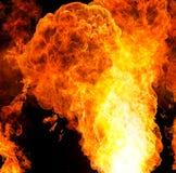 Inferno rosso fotografie stock