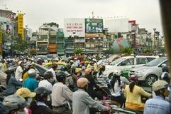 Inferno Saigon do tráfego, Vietnam Fotos de Stock