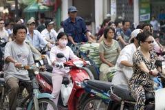 Inferno Saigon, Vietnam di traffico fotografia stock libera da diritti