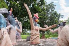 Inferno tailandese di buddism Fotografia Stock