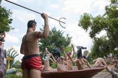 Inferno tailandese di buddism Fotografie Stock Libere da Diritti
