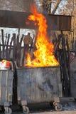 Infernobrand arkivbild