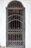 Inferriata chiusa del ferro battuto Fotografia Stock Libera da Diritti