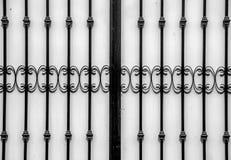 Inferriata d'acciaio Fotografia Stock