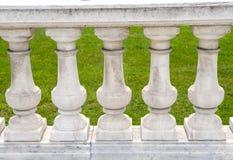 Inferriate di pietra Handcrafted della colonna immagine stock libera da diritti