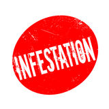 Infestation rubber stamp Stock Photography