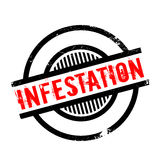 Infestation rubber stamp Stock Photo