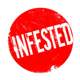 Infested rubber stamp Stock Photos