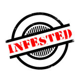 Infested rubber stamp Stock Image