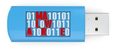 Infetto van Concettodi software Stock Foto