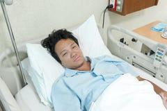 Infezione paziente del polmone Immagine Stock