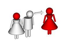 Infidelity. Conceptual photo of a marital infidelity Stock Photo