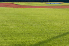 Infield Dirt And Outfield Grass Of Baseball Field Stock Photo