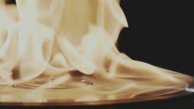 Infierno ardiente del disco de vinilo almacen de video