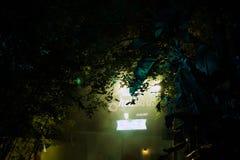 Infierno del motel en el Aullido-O-grito en los jardines de Busch Imagenes de archivo