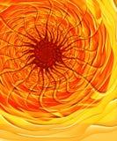Infierno solar - imagen del fractal ilustración del vector