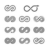 Infini Logo Template Set Collection infinie d'icône de symbole Photos libres de droits