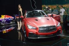 Infini rouge Salon international Russie d'automobile de Moscou Image libre de droits