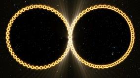Infinidade chain do ouro capaz de dar laços ilustração stock
