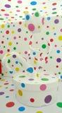 Infinidade colorida Yayoi Kusama Exhibition Singapore da ilusão dos pontos 3D imagem de stock