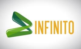 Infinidade - logotipo Fotografia de Stock