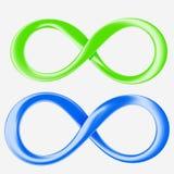 Infinidade verde e azul Ilustração do Vetor