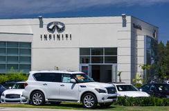 Infinit Automobile Dealership Stock Photography