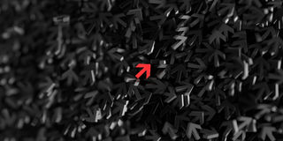Infinite arrow signs, 3d rendering. Infinite arrow signs on a plane, 3d rendering Stock Photography