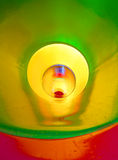 Infinite big colorful tunnel slide in the pool Stock Photo