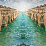 Infinite bridges concept Stock Photography