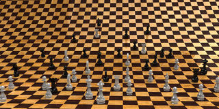 The infinite chessboard Stock Images