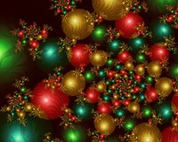 Infinite Christmas Balls - Fractal Image. A fractal image consisting of infinite christmas tree ornaments Stock Images