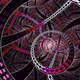 Infinite Circural love style fractal art. Fractorium rendered fractal art used for abstraction colour used pink, white, black, purple, red Vector Illustration