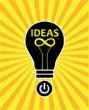 Infinite creative ideas. In sunburst background Stock Image