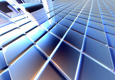 Infinite Cubes. 3D rendering Royalty Free Stock Photos