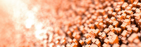 Infinite cubes background Stock Photography