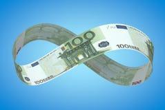Infinite euro Stock Image