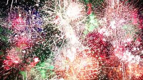 Infinite Fireworks stock video footage