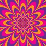 Infinite Flower. Optical illusion design Stock Images